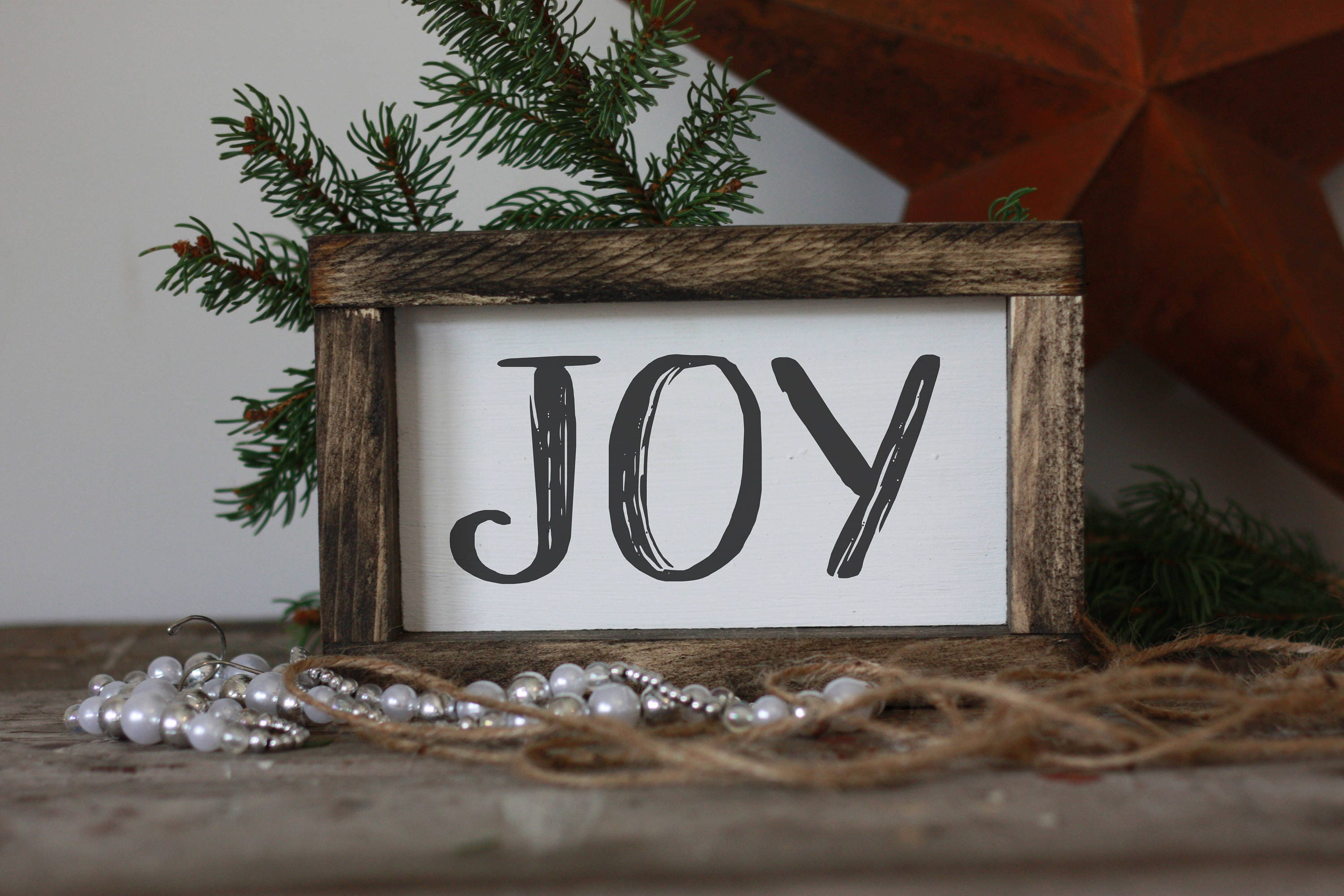 Joy Sign Mini Wood Christmas Signmodern Farmhouse Wall Decor Small Signs Home Gifts For Her Gallery