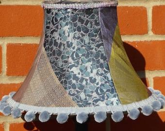 Silk table lampshade, handmade