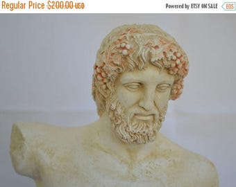 For Sale Dionysus - Bacchus Bust- Dionysos God of Wine - Ancient Greece - Museum Replica
