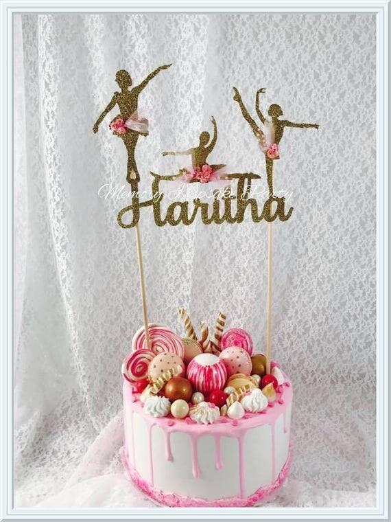 Ballerina cake topper ballet cake topper dancer cake for Ballerina cake decoration
