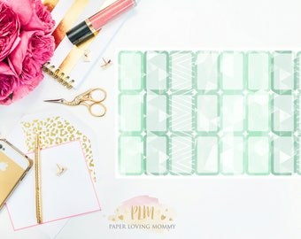March Halfbox Stickers | Planner Stickers designed for use with the Erin Condren Life Planner