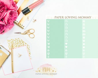 March Label Stickers | Planner Stickers designed for use with the Erin Condren Life Planner