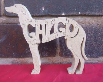 Spanish Galgo, Spanish Galgo gift, wooden Galgo, Galgo memorial, Galgo ornament, wooden dog gift, dog breed gift, Galgo lover gift,