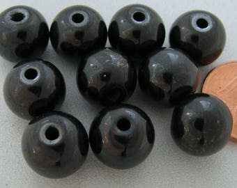 10 Perles rondes 10mm Pierre HEMATITE PIER38 diy création bijoux