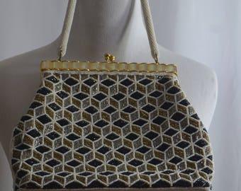 1960's Elegant Beaded Handbag