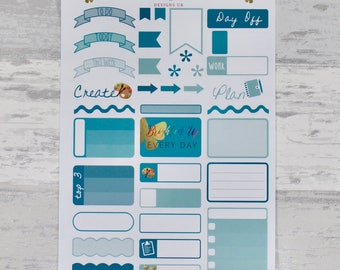 TEAL Weekly Sampler Set - Stickers for Planners!
