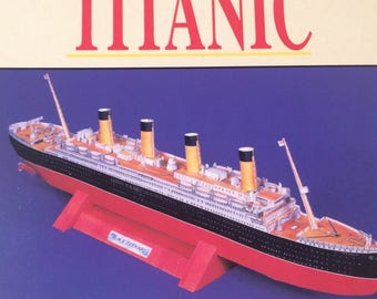 Make your Own Titanic By Sally Lindley Parragon Plus 1998 Paper Model Cut Out Books Diorama