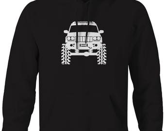 Jeep Grand Cherokee WJ Lifted Offroad 4x4  Hooded Sweatshirt- K660