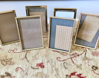 Gold Frames Brass Picture Frames 4x6 Picture Frame Table Number Holders Table Number Frames Metal Frames Antique Frames Photo Frames for Art