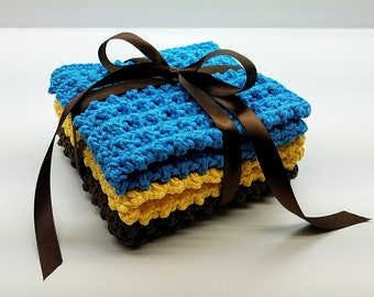Crochet Cobblestone Washcloth Gift Set Crochet Pattern DIGITAL DOWNLOAD ONLY
