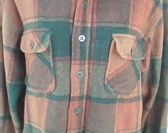 Vintage Fox Knapp Wool Shirt Jacket vtg Wool Shirt Coat Fox Knapp Vintage Wool Shirt Coat Vtg Wool Fox Knapp Shirt Jacket