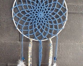 "Dream catcher ""blue sky"" blue and liberty"