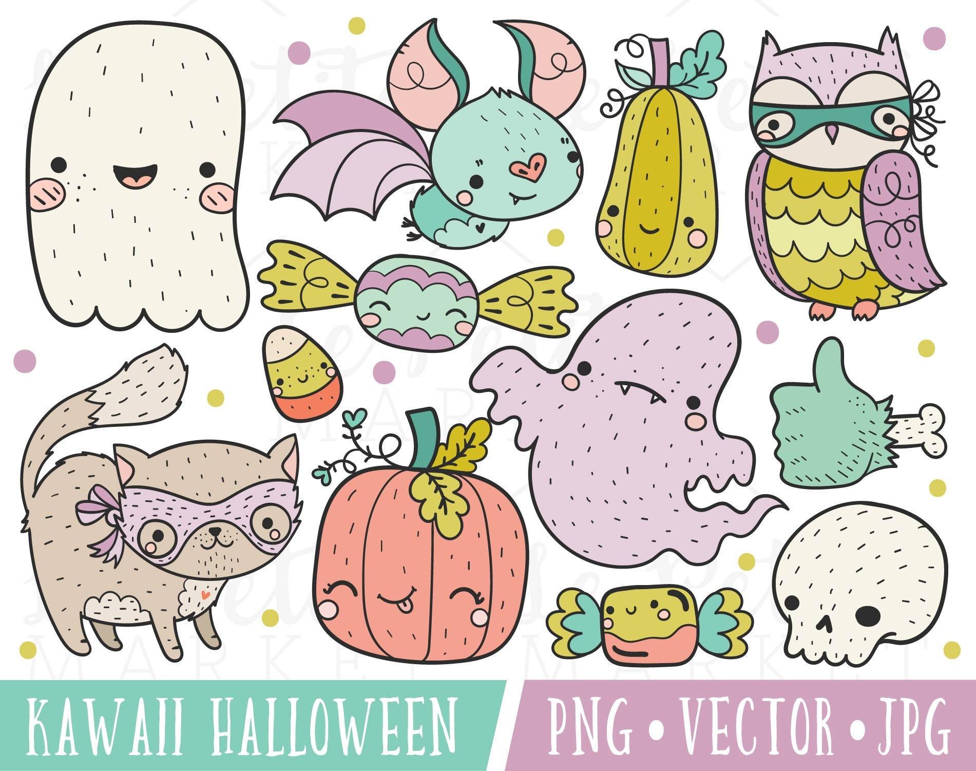 Kawaii Halloween Clipart Images Cute Halloween Clipart (1901 x 1501 Pixel)