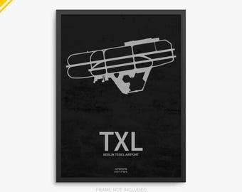 TXL Airport, Berlin Tegel Airport, Berlin Germany, TXL Airport Poster, Berlin Airport, Berlin, Berlin Tegel, Berlin Tegel Airport Poster,TXL