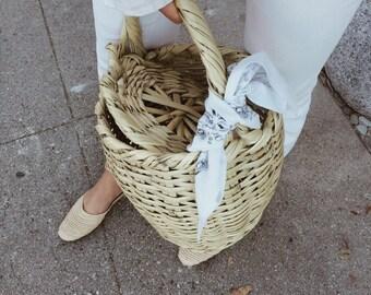 Straw basket bag Jane Birkin beach bag