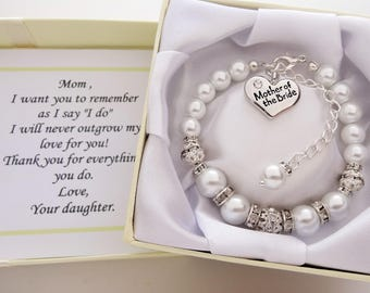 Mother of the bride Wedding Bracelet  Mother of the Bride Bracelet Mother of the Bride Gift Brides mom gift mother of the bride jewelry gift
