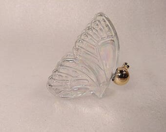 Vintage Avon Iridescent Glass Butterfly Perfume Bottle