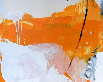 Abstract painting modern paintings pictures abstract image with white and yellow