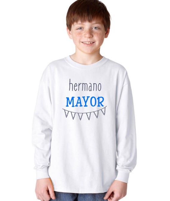 Round neck boy t-shirt HERMANO MAYOR (Big Brother) or MENOR (Little brother)