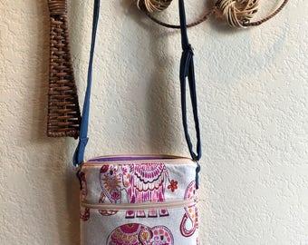 Elephant Colorful Crossbody Bag