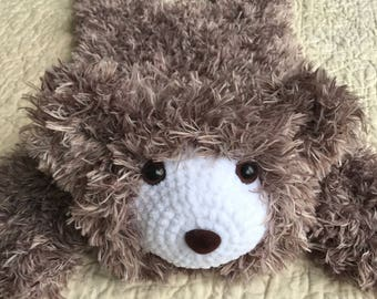 Brown Bear Rug small