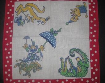 Vintage Circus Child's Handkerchief