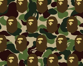 A BATHING APE POSTER Camo Large A1 Bedroom poster