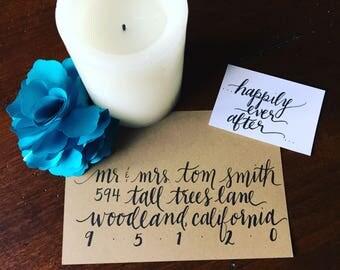 Calligraphy/Hand Lettered Envelopes