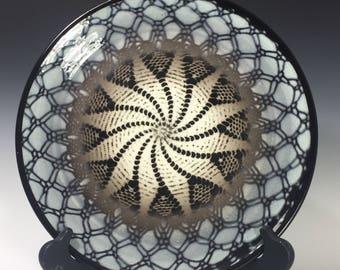 Crocheted Doily Ceramic Dinner Plate