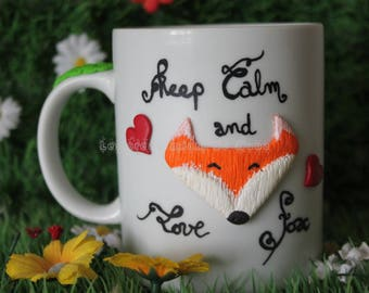 """Keep Calm and Love Fox"" mug"
