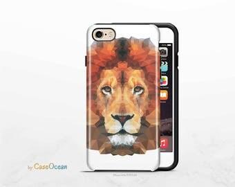 LION CLEAR phone case, iPhone X 8 7 6 6s Plus phone case iPhone SE 5 5s phone case Samsung Galaxy S8 Plus S7 Edge S6 S4 S3 lion phone case