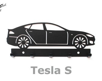 Key rack Tesla S, design, gift, idea