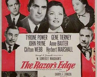 Sheet Music 1947 MAM'SELLE from The Razor's Edge Tyrone Power Gene Tierney Vintage Sheet Music | Motion Picture Vintage Sheet Music