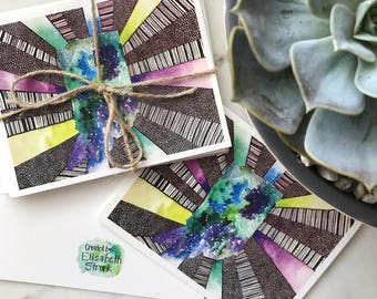 Patterned Indiana Note Cards