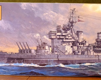 Tamiya 1/350 Scale Model of the British Battlehip the King George V, complete.