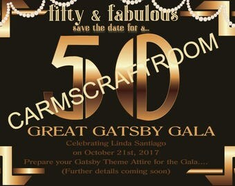 Great Gatsby Theme Invitation