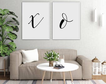 Modern Home Decor, Digital Art Download, Printable Wall Art Set,  Calligraphy Print,