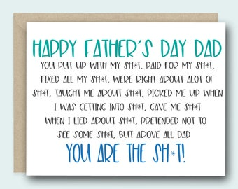 Greeting Card | Father's Day Card | Card for Dad | Fathers Day Gift | Funny Card for Dad | Funny Father's Day |Funny Card for Dad