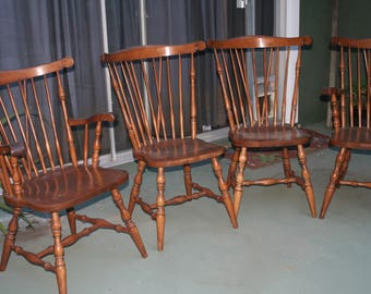 4 Vintage Windsor Dining Chairs