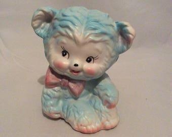 Vintage Kitschy Baby Blue Bear Planter