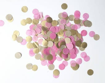 Confetti,Tissue Paper, Table Decoration, Confetti Toss, Wedding Decoration, Party Decor, Pink, Gold, Gold Confetti