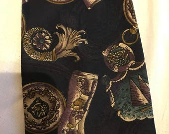 Vintage Victorian style necktie made by Hickeys.