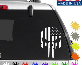 Punisher American flag vinyl decal sticker
