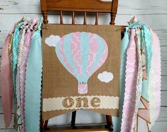 Hot Air Balloon High Chair Banner