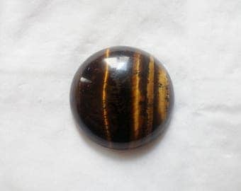 Round 26 mm - 20 323 Tiger eye cabochon