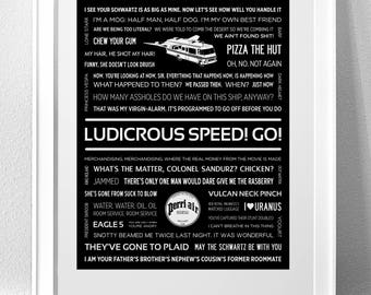 SPACEBALLS Typography Print