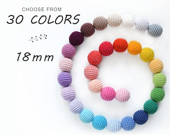 10pcs Crochet beads 18mm