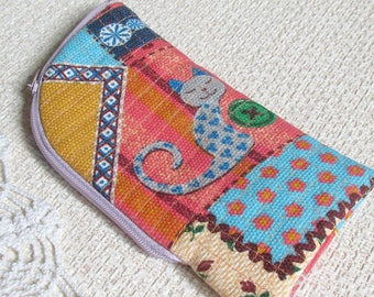 Zipper pouch Funny Phone pouch Zippered Cell phone pouch iPhone pouch Zip iPhone 6 case iPhone 7 case Phone wallet iPhone wallet For girl