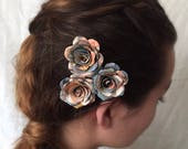 3 Book Page Flower Hair Pins, Book Page Flower, Book Wedding, Bookish Gift, Bookish, Flower Hair Clip, Book Paper Flower, Book Flowers