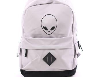 Alien Young Backpack Retro Sack Purple Black White Navy